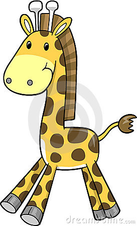 Safari Giraffe Vector Illustration
