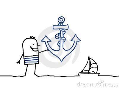 Sailor and anchor