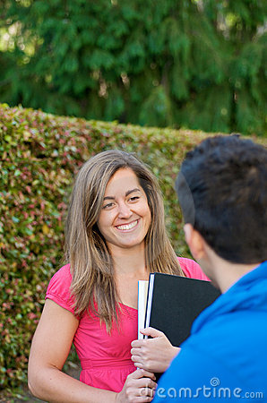 Smiling Student discussion