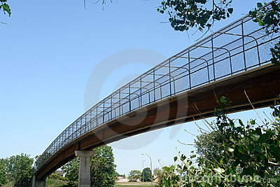 Long footbridge