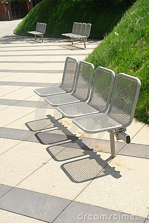 Modern park benches
