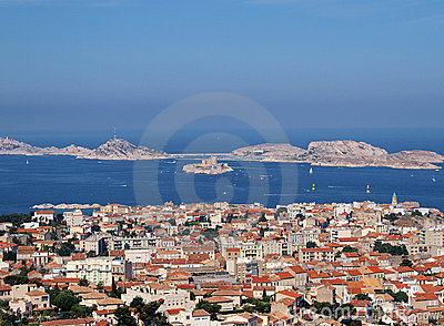 View on Marseilles city