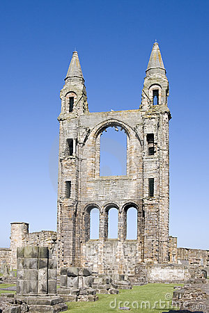 East gable of St Andrews cathedral ruins, Scotland