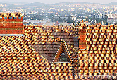 Old roof of a building