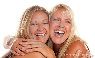 Two Beautiful Sister Laughing