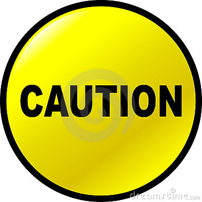 Caution vector yellow button