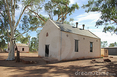 Old church in Hermannsburg, Australia