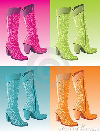 Glamour woman boots