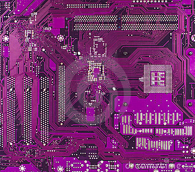 Violet motherboard surface