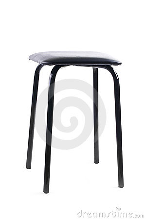 Simple black stool
