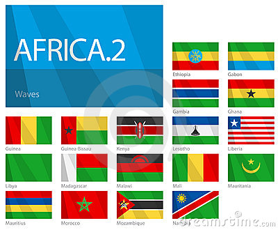 African Countries - Part 2. World Flags Series