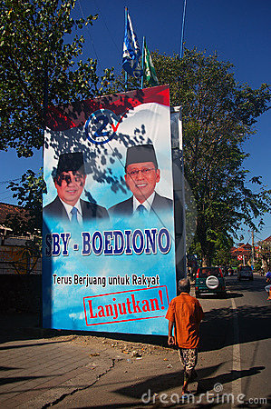 Billboard showing President and his running mate
