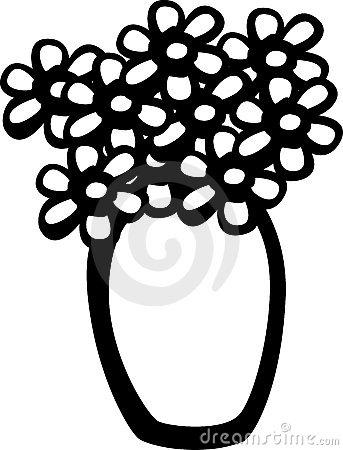 Flower pot vase vector illustration