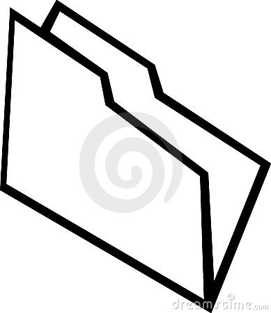 File folder vector illustration