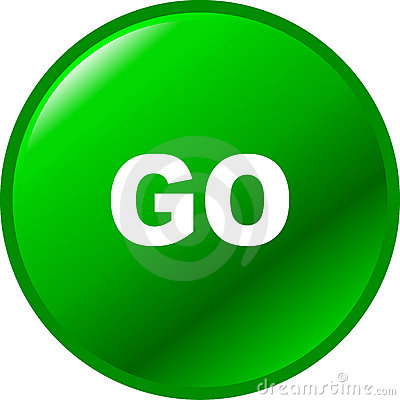 Go vector green button