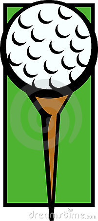 Golf ball in tee vector illustration