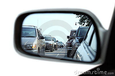 Traffic Jam on Rear View Mirror