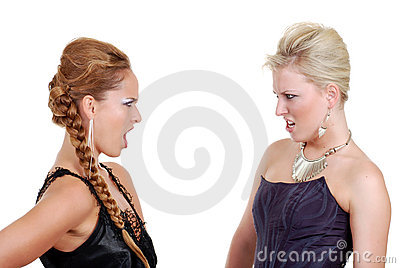 Two models arguing