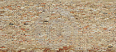 Texture of grunge wall from worn out bricks