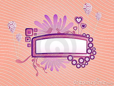Cute funky frame vector image