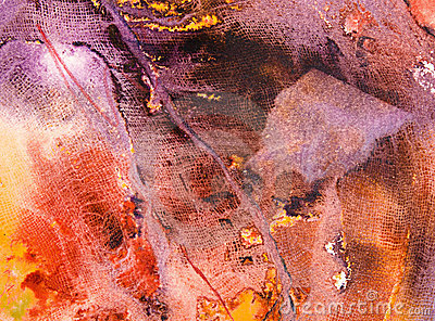 Abstract painting with gauze texture