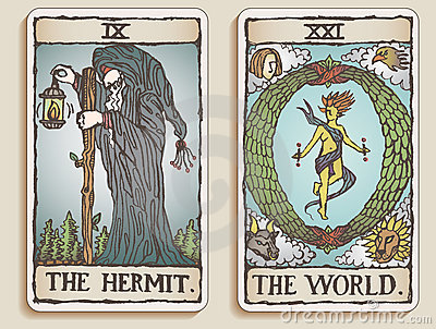 Two Tarot Cards v.4