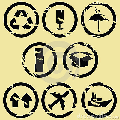 Stamp shipping signs