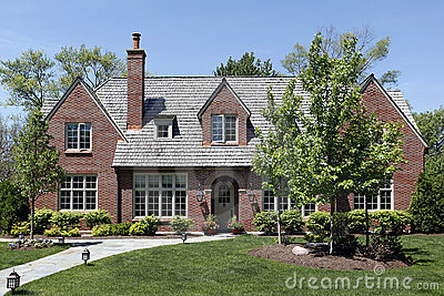 Luxury home with cedar shake roof