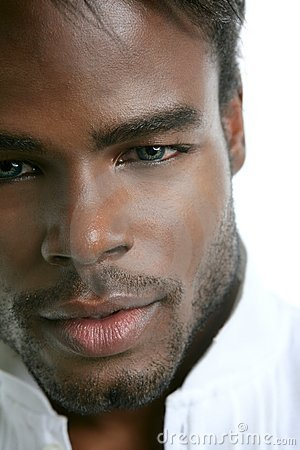 African american cute black young man portrait