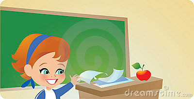 Young Girl in Classroom