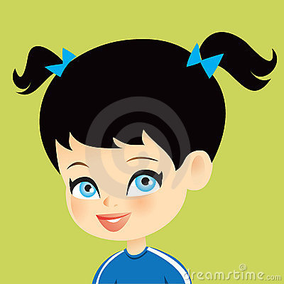 Cartoon Girl Children Illustration Portrait