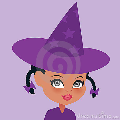 African American Halloween Witch Portrait