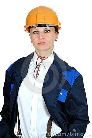 Young engineer girl