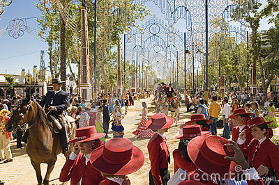 Horse Fair in Jerez, cadiz Spain