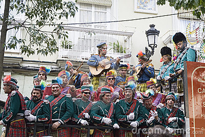 Coro in Cadiz Carnival, Spain