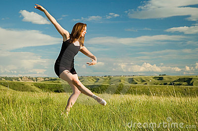 Ballerina in field