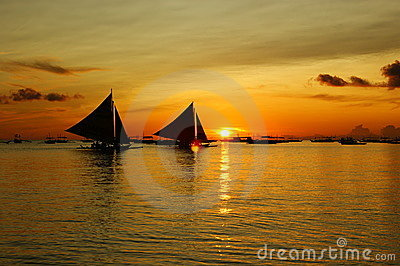 Sun set in Boracay