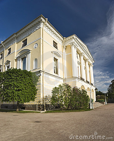 Classical building with columnes