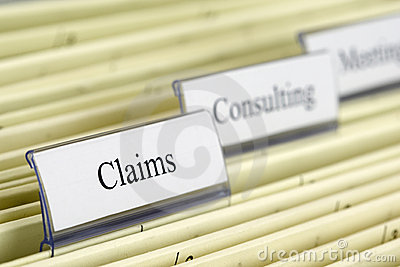 Hanging file Claims