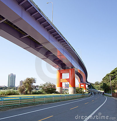 Taiwan bridge bike path