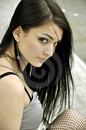 Young beautiful brunette