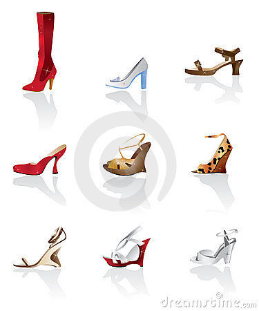 Shoe and boot vector
