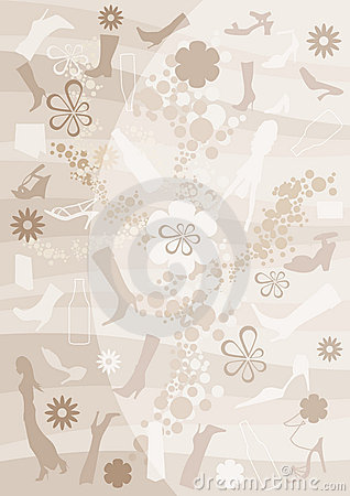 Fashion, bottle and floral background