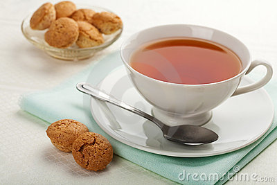 Cup of tea and muffins
