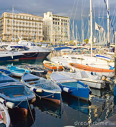 Yachts in Naples