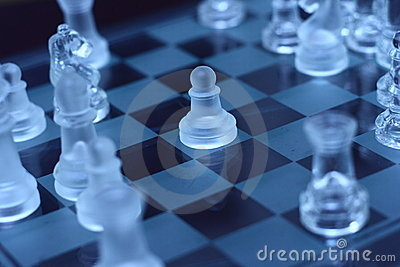 Transparent pawn chess