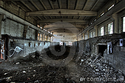 Empty industrial room