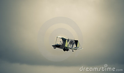 Antique biplane