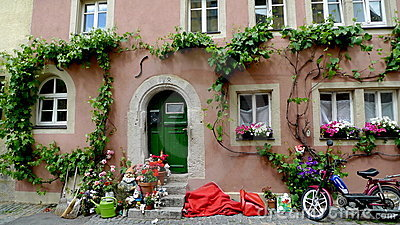 Beautiful old house in Rothenburg