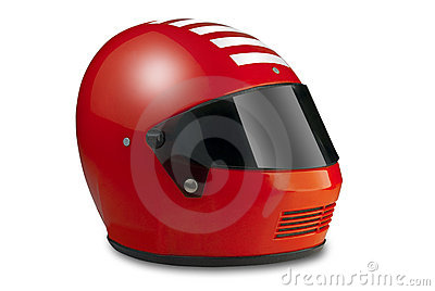 Racing helmet, isolated